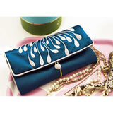Jewelry Roll Clutch - Embroidered Chrysanthemum ()