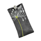 Eyeglass Pouch - Embroidered Chrysanthemum (gray)