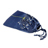 Shoe Pouch - Embroidered Chrysanthemum (navy)