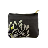 Zip Wallet - Embroidered Chrysanthemum (black)