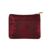 Zip Wallet Small - Silk Jacquard (chili red)