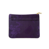Zip Wallet Small - Silk Jacquard (deep purple)
