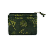 Zip Wallet Small - Silk Jacquard (golden black)
