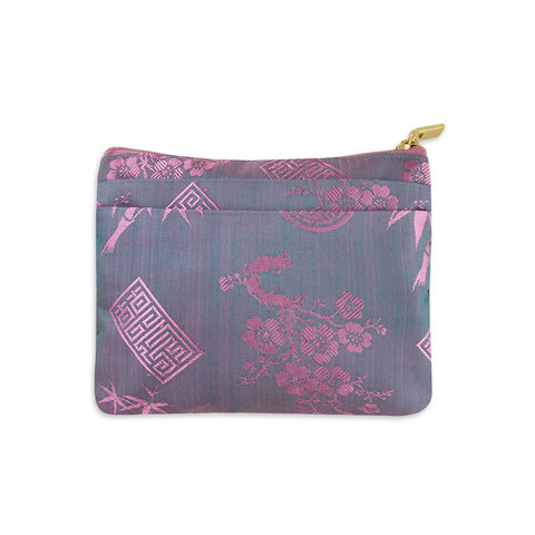 Silk Jacquard Zip Wallet