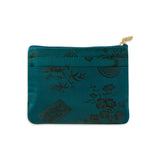 Zip Wallet Small - Silk Jacquard (peacock)