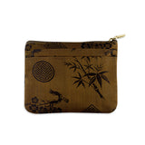 Zip Wallet Small - Silk Jacquard (rustic copper)
