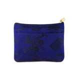 Zip Wallet Small - Silk Jacquard (cobalt blue)