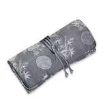 Jewelry Roll Clutch - Silk Jacquard (gray)