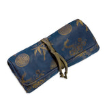 Jewelry Roll Clutch - Silk Jacquard (midnight navy)
