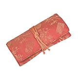 Jewelry Roll Clutch - Silk Jacquard (peachrose)