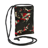 Travel Neck Pouch - Silk Brocade (cherry blossom chinois)