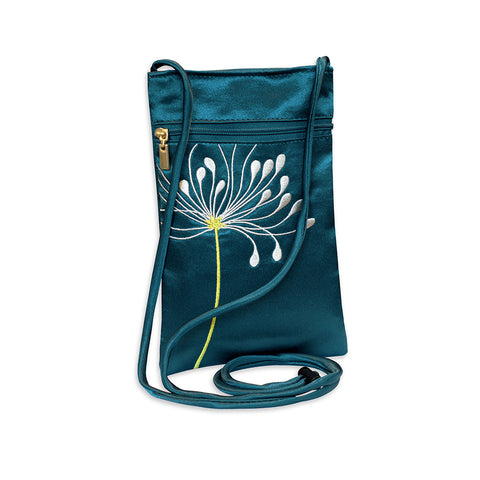 Embroidered Crossbody Pouch