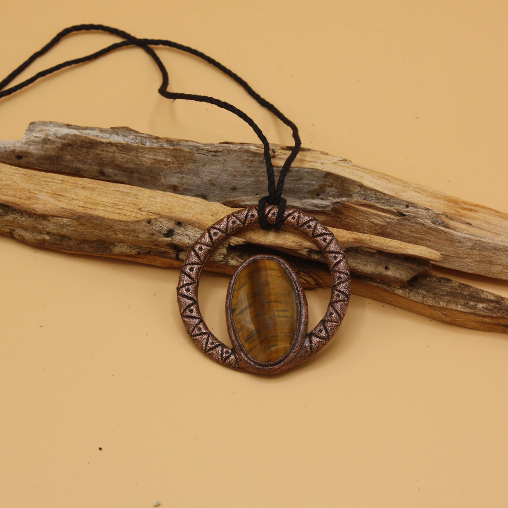 Tiger's Eye Stone Necklace || The Gem Within