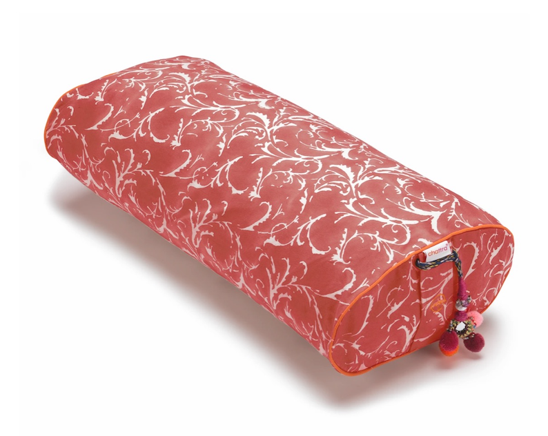 Pomegranate Feather || Standard Yoga Oval Bolster by Chattra
