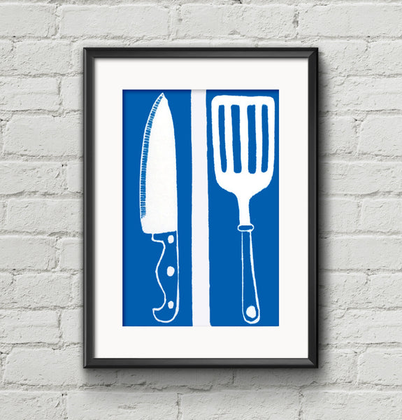 Utensils Linocut (Small)
