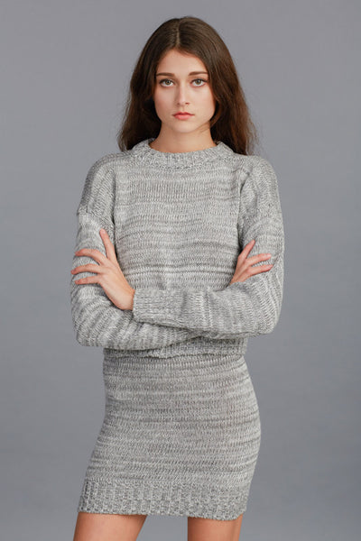 Knit Sweater & Mini Skirt