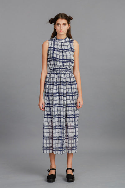 Check and Plaid Maxi Dress