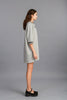 Grey Sailor Lace-up Dress
