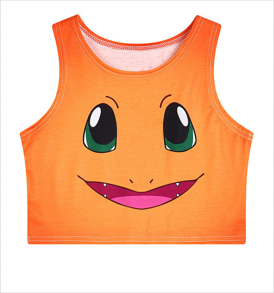 Charmander Gradient Crop Top