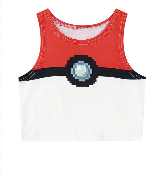 Poké Ball Crop Top