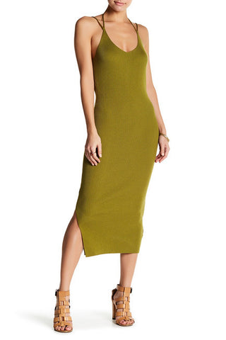 Multi-way Halter Knit Midi Dress