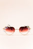 """Lana Para x Luma"" Iridescent Floral Heart-shaped Sunglasses"