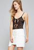 Lace-up front bodysuit