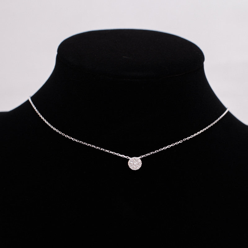 Dainty Dot Silver Necklace