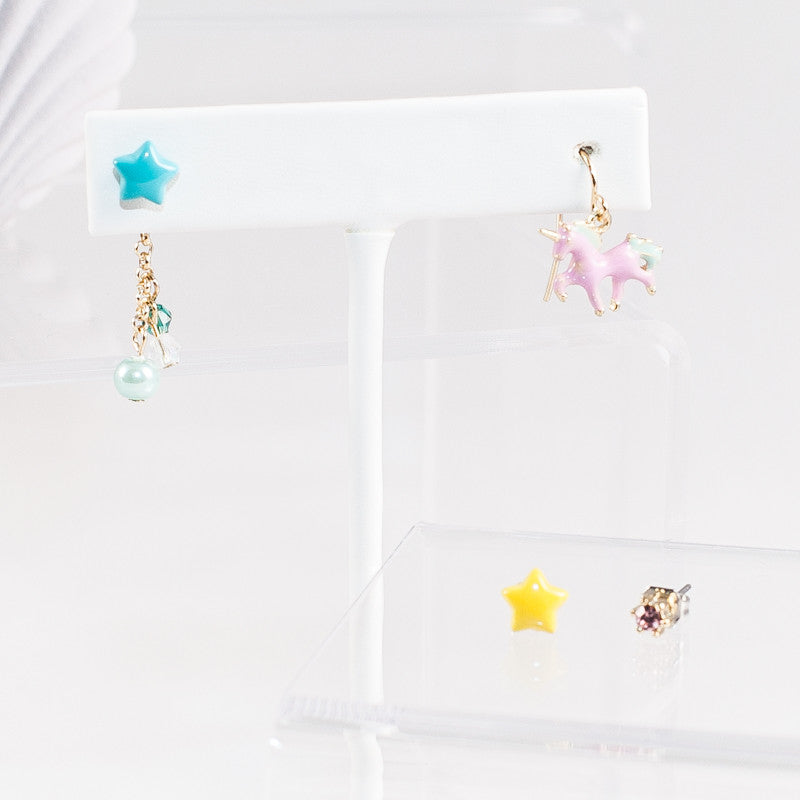 Unicorn in the Galaxy Earrings (Pink/Blue/White)