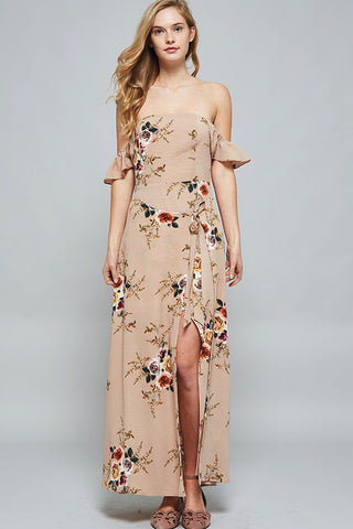 Cindy Off-shoulder Floral Maxi Dress