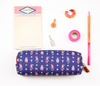 Tassel Print Pencil Case (Green/Orange/Purple/Blue)