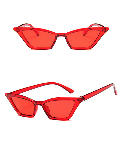 Colorist Cat-eye Sunglasses - Red