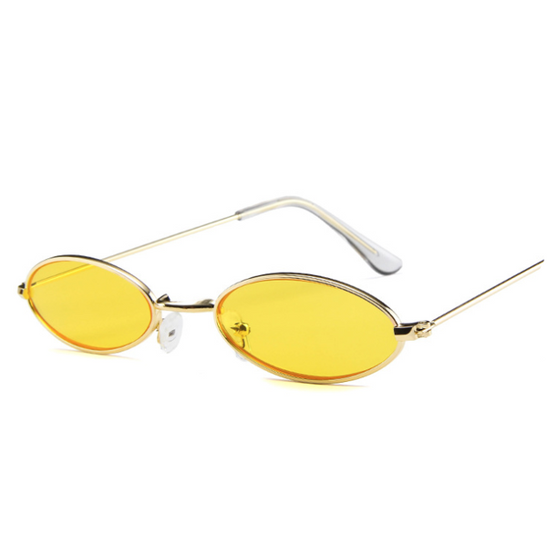 Daisy Metal Vintage Sunglasses - Yellow