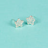 100% Silver Wired Sterling Star Studs Earrings