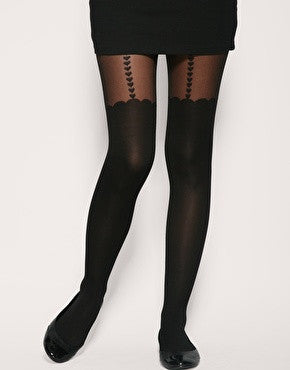 Heart Suspender Tights