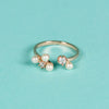 Pearls and crystals open-end ring