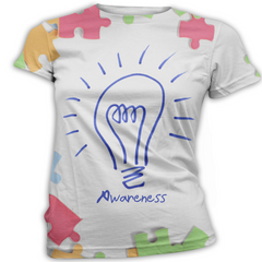 Blue Lightbulb Autism Awareness T-Shirt