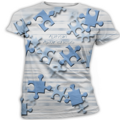 Blue Puzzle Piece Autism Awareness T-Shirt