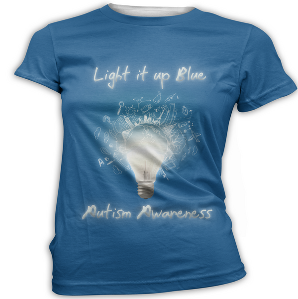 Light it Up Blue Autism Awareness T-Shirt