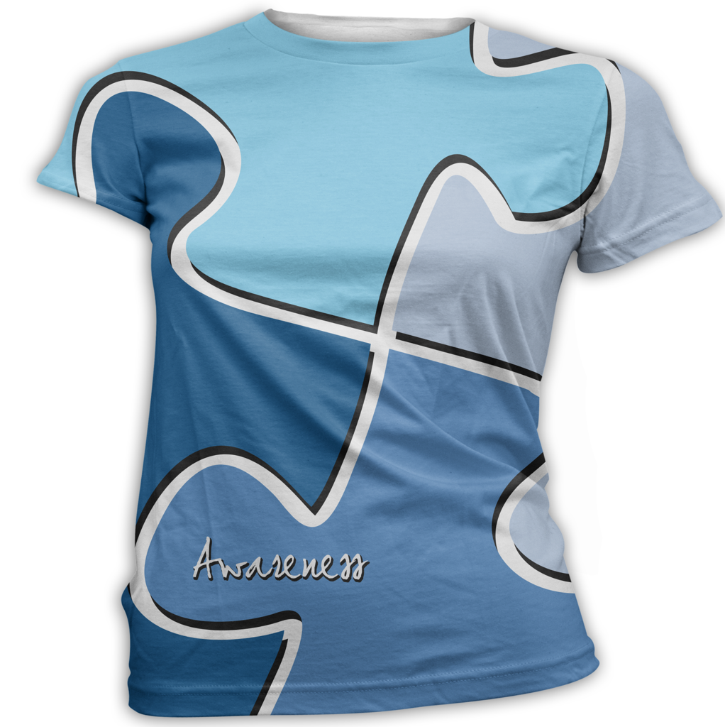 Blue Puzzle Autism Awareness T-Shirt