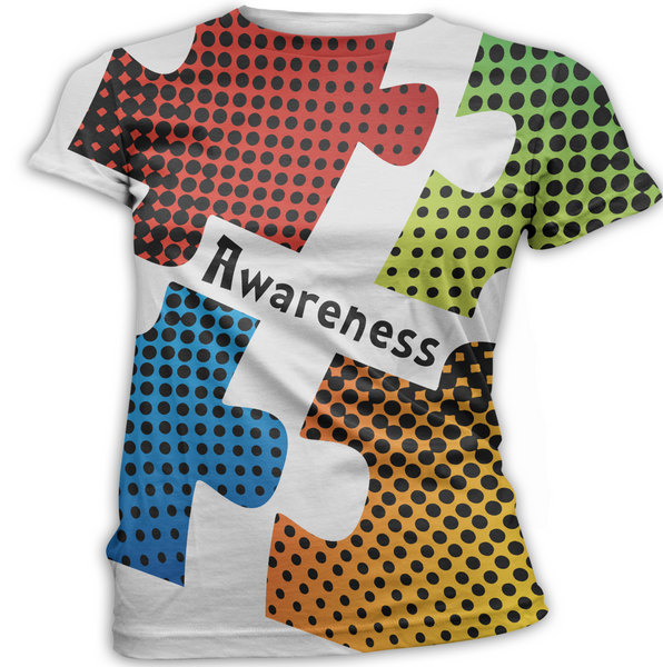Polka dot Puzzle Autism Awareness T-Shirt