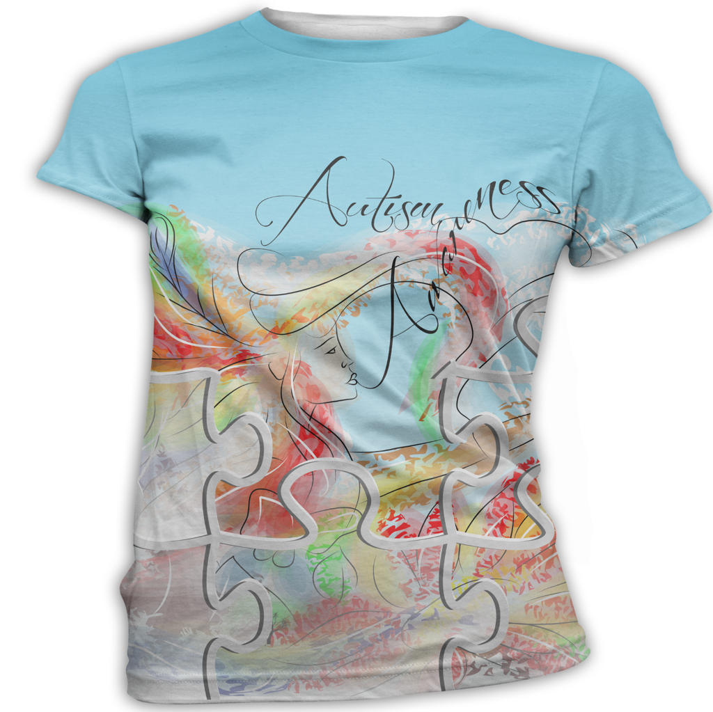 Etherial Woman Autism Awareness T-Shirt