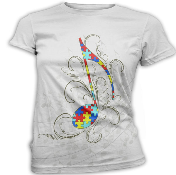 Music Note Autism Awareness T-Shirt