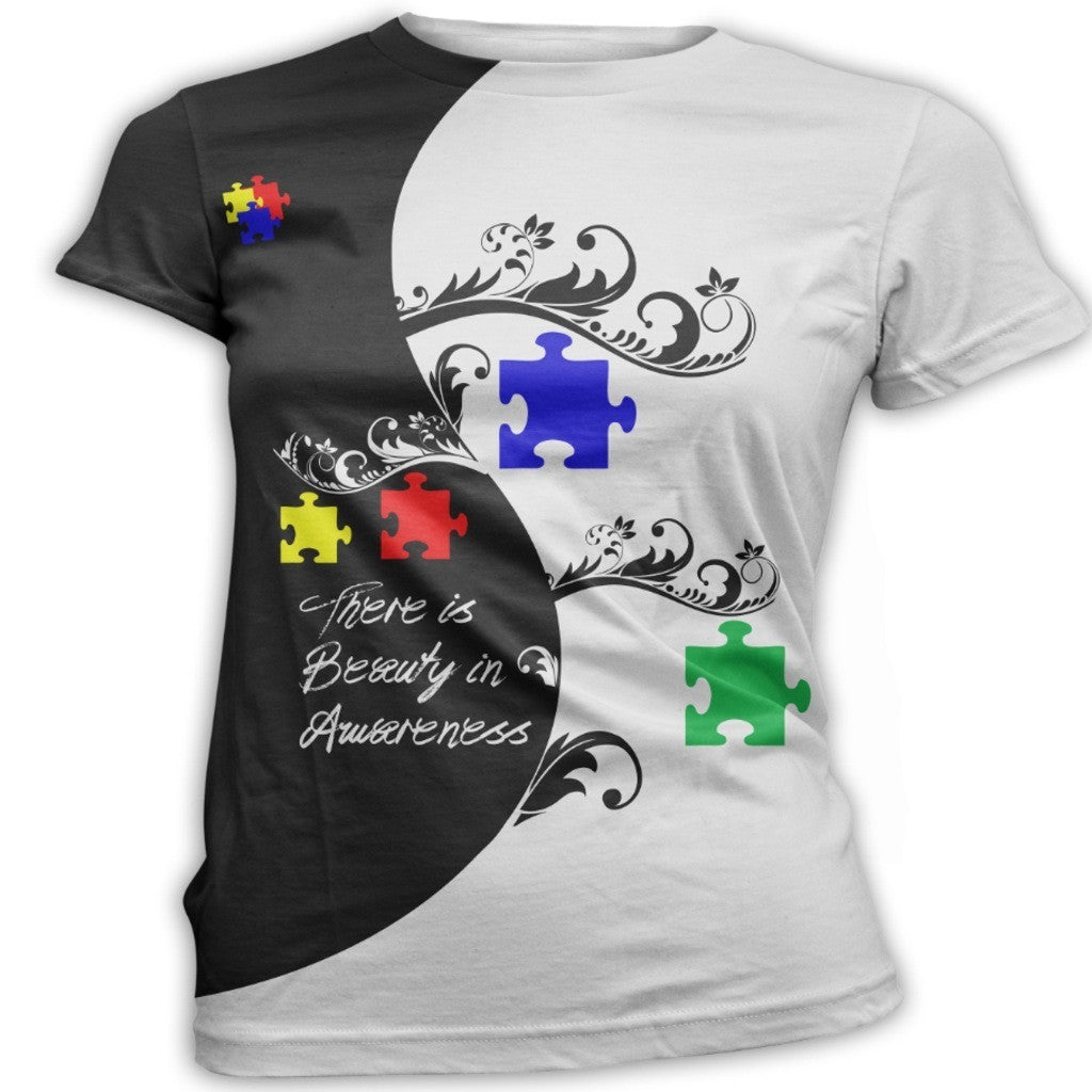 Ying Yang Autism Awareness T-Shirt