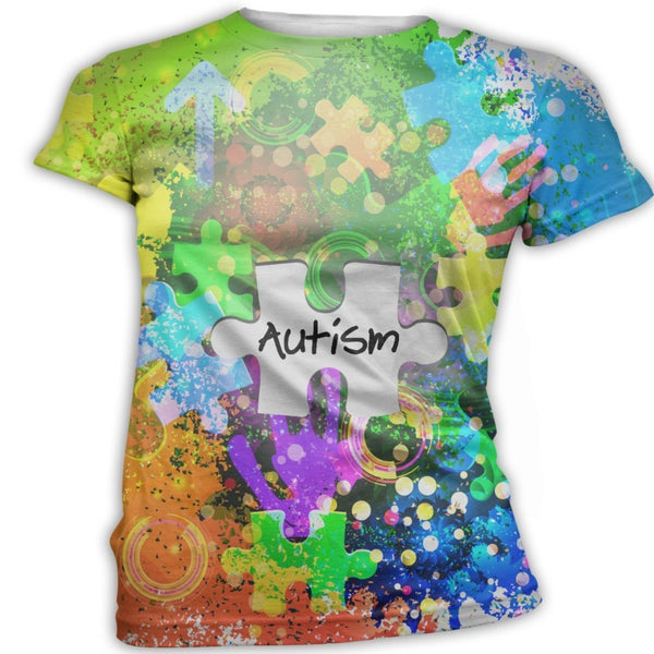 Neon Autism Awareness T-Shirt