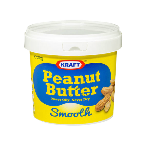 Kraft 2kg Smooth Peanut Butter tub