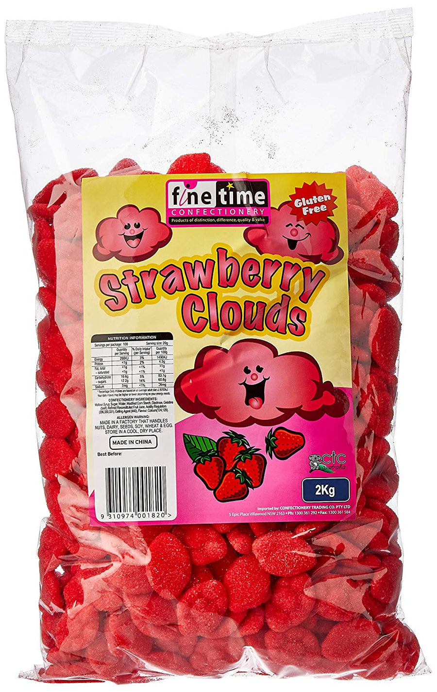 Finetime Strawberry Clouds 2KG tub