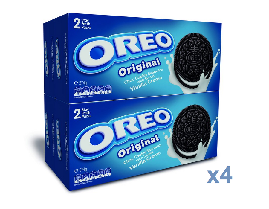 Oreo Original Choc Cookie Sandwich 4X274g