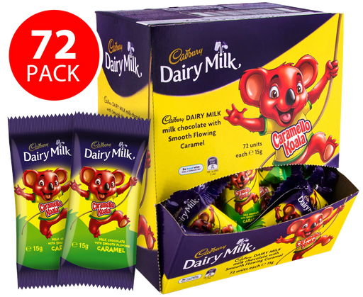 Cadbury Caramello Koala 72 pack display box 1kg