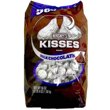 Hersheys Kisses Milk Chocolate bluk 1.58kg bag